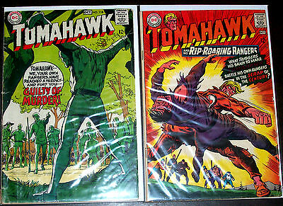 TOMAHAWK #112,118 (VG-) 2 Vintage Silver-Age Issues! DC 1967/68 Rangers 1st App!