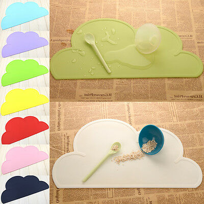 2016 Silicone Placemat Baby Clouds Shape Plate Mat Table Kitchen Dinning Pad UK