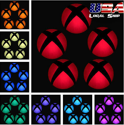 Removable Logo Power Button LED Color Change Sticker Decal for Xbox One Console