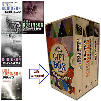 Peter Robinson 4 Books Collection Inspector Banks Series Gift Wrapped Slipcase