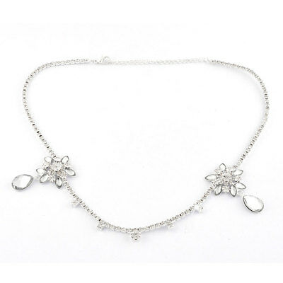 Wedding Bridal Party Rhinestone Droplets Head Chain Necklace Headdress Frontlet