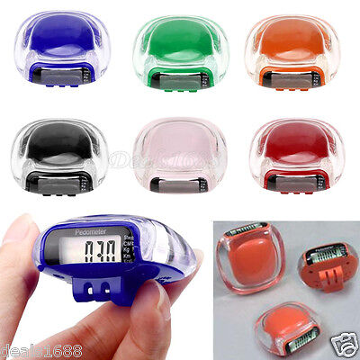 Mini Clip LCD Pedometer Walking Run Step Calorie Distance Calculation Counter