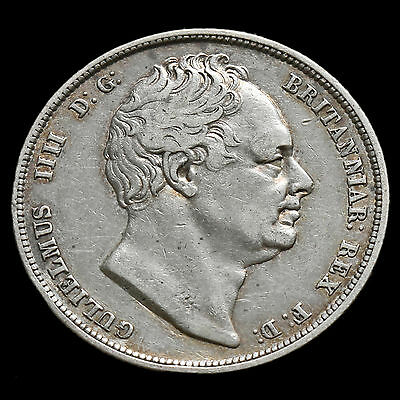 1834 William IV  Milled Silver Half Crown – VF