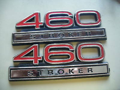 "NEW PAIR 5.1 STROKER RED 5/"" EMBLEMS PAIR"