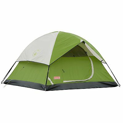 Coleman Sundome 2 Person Green Camping Tent with WeatherTec and Carry Bag