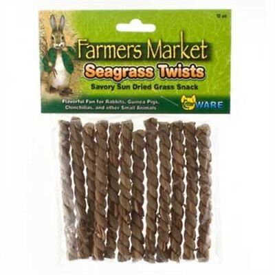 Ware Manufacturing All Natural Sundried Seagrass Twists Small Pet Chew Snack Toy