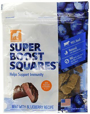 Dogswell All Natural Super Boost Beef Blueberry Recipe Treats for Pet Dogs 5z