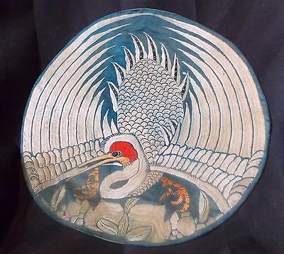 Antique Chinese 7th Rank Badge Mandarin Duck Square Qing Dynasty