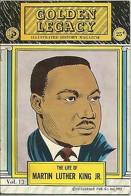 Golden Legacy Vol. 13 Life Of Martin Luther King Jr. 1972 Fitzgerald Comic VG+