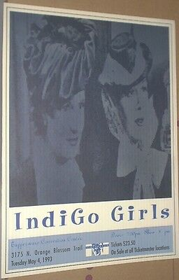 The Indigo Girls RARE 1993 LIVE CONCERT GIG POSTER  Amy Ray Emily Saliers