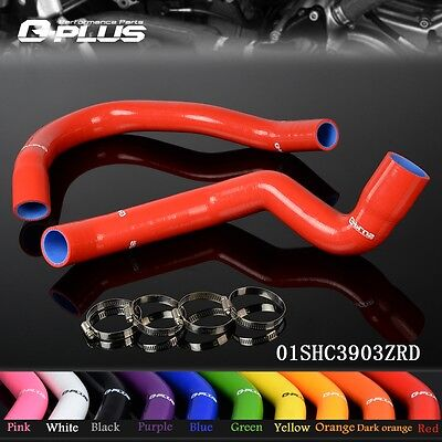 Silicone Radiator  Hose For  91-01 JEEP CHEROKEE XJ 4.0 l6/2PCS Red