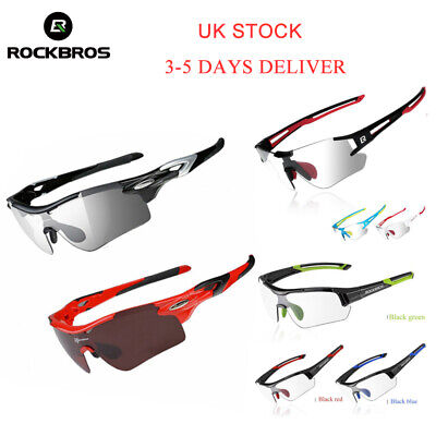 ROCKBROS Photochromic Glasses Sunglasses Polarized Lens Cycling Goggles Eyewear