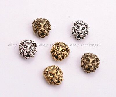 5/10/30/50Pcs Tibetan Silver Lion Head Spacer Beads for Bracklet  SH3029
