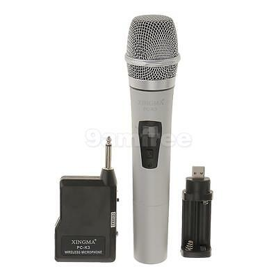 High Quality Cardioid FM Wireless Microphone Mic Mike Batteries Operated