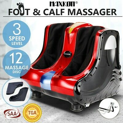 Foot Massager Ankle Calf Leg Shiatsu Kneading Rolling Heating Machine 4 Motors