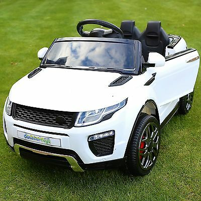 Range Rover Evoque Style 12v Child's Electric Ride On Car Jeep - White