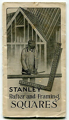"""Carpentry Re: Vintage STANLEY Publication - """"Rafter And Framing Squares"""""""