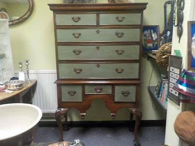 A Lovely Teak Reproduction Chest On Chest 8 Draws