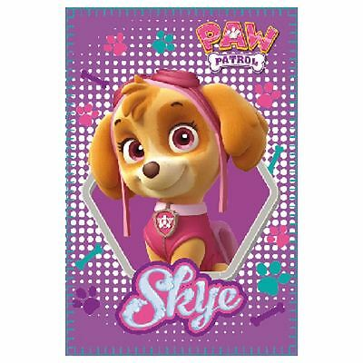 Children Kids Official Paw Patrol Character Skye Blanket Throw