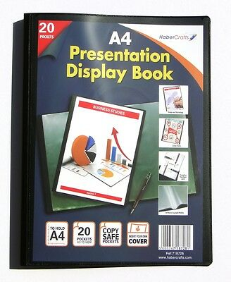 A4 Display Book 20 Pockets (40 Views) Hard Cover Presentation Folder (1 Pack)