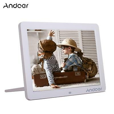 Andoer HD LED Digital Photo Frame Picture Scroll MP3/4 Movie Player Remote D8M1