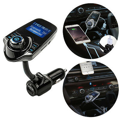 FM Transmitter Bluetooth Car Kit MP3 USB Charger Handsfree For iPhone 7 Samsung