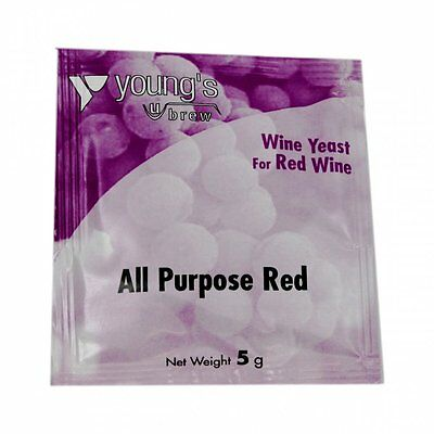 Red Wine All Purpose Yeast Sachet Home Brew Brewing Making 23 Litres / 5 Gallons