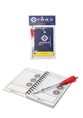 Fivics Archery Target Score Record Book 60 Page Record Keeping Arrow Shape Pen