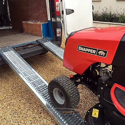 PAIR Steel Ramps 1.85m 400kg LAWNMOWER RIDE ON SCOOTER ACCESS RAMPS