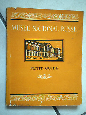 LIBRO MUSEE NATIONAL RUSSE petit guide editions en LINGUES ETRANGERS MOSCOU 1955