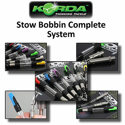 Korda *MK2 Complete Stow Bobbin Indicator System* in 6 Colours for Carp Fishing