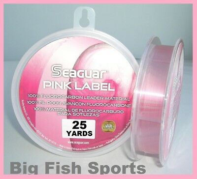 SEAGUAR PINK LABEL FLUOROCARBON Leader 25YD YARDS PICK YOUR SIZE! FREE USA SHIP!