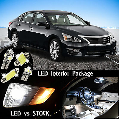 16PCS White Interior LED Light Package Kit Dome Map for 2007-2015 Nissan Altima