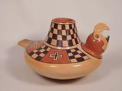 "Wow* Hopi Indian ""parrot Effigy"" Pottery By World Renowned Artist Rachael Sahmie"