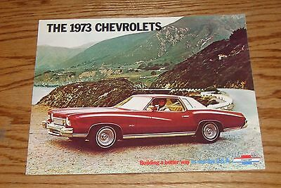 Original 1973 Chevrolet Full Line Sales Brochure 73 Corvette Chevelle