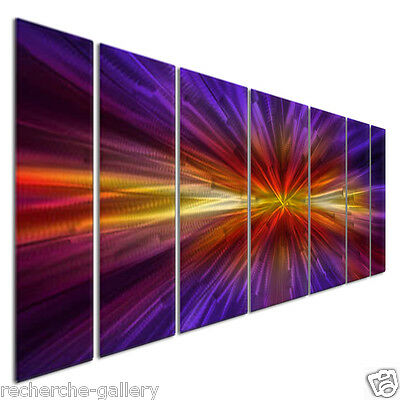 Inception Metal Wall Hanging Abstract Metal Panel Art Contemporary Home Decor