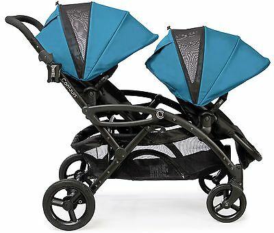 Contours Options Elite Twin Tandem Double Baby Stroller Laguna NEW Upgraded 2017