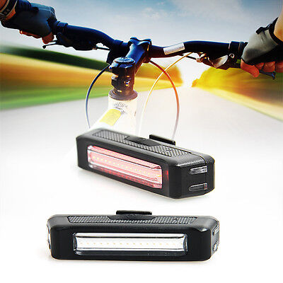 USB Rechargeable LED Bicycle Bike Cycling Rear Tail Light 6-Modes Lamp SN