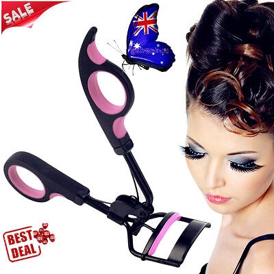 Black Handle Eye Curling Eyelash Curler Clip Beauty Makeup Tool Eyelash Tools ZA