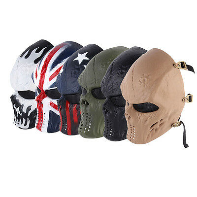 Paintball Impact Resistant Skeleton Halloween Military CS Mask Tactical XP