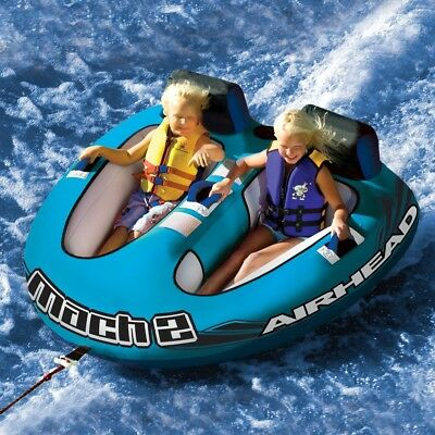 "Airhead Mach-2 Inflatable Towable Ski Tube - 2 Person - 69"" X 69"" Size"