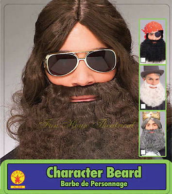 Curly Fake Beard And Mustache Costume Facial Hair Hippie Jesus Accessory