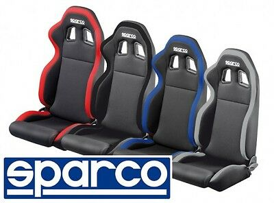 Seat Sport Sparco Model R100 New Series, Black-Red Fabric