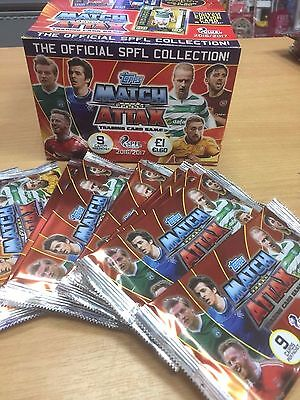 Topps Match Attax SPFL 2016/17 Scottish Football Trading Cards 10 25 packs Box