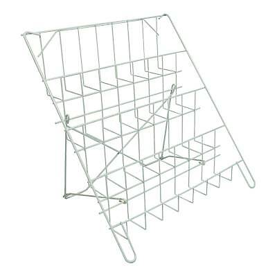 Counter Standing Collapsable Card Display in White for Shops & Stalls (E8W)