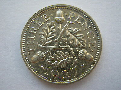 1927 George V silver Proof Threepence