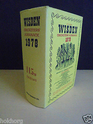 WISDEN CRICKETERS' ALMANACK 1978 : 115th EDITION CRICKET