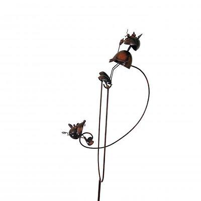 Rocking Balancing Cat & Mouse Metal Garden Wind Spinner Ornament