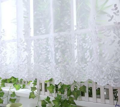 """Voile Cafe Net Curtain Panel ~ D7 MILLY ~ 12"""" & 18"""" * 24"""" Drop"""