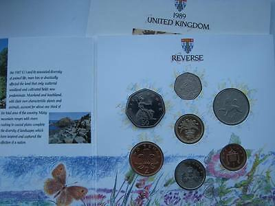 1989 Royal Mint B UNC coin colection year set